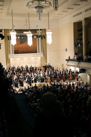 Lõpuaplaus pärast kontserdi teises pooles kõlanud Sibeliuse 5. sümfooniat ja kahte lisapala.